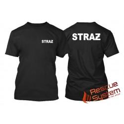 Koszulka T-shirt STRAŻ czarny
