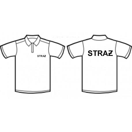 Koszulka polo STRAŻ czarna