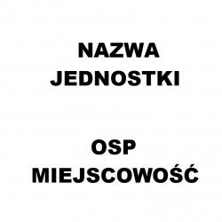 Naklejka nazwa OSP miejscowości