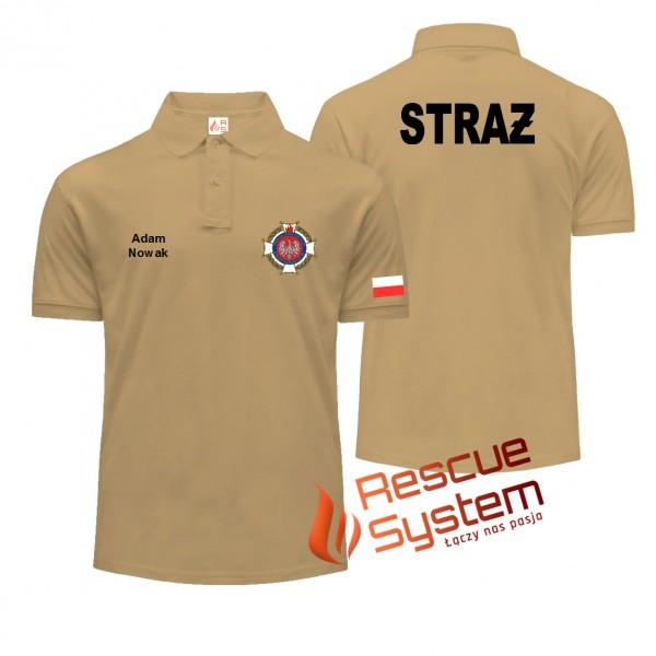 Koszulka POLO straż PIASKOWA