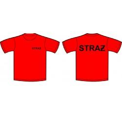 T-shirt STRAŻ czerwony