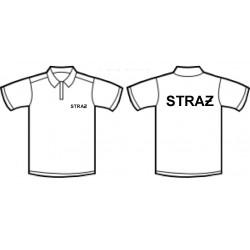 Koszulka polo STRAŻ biała