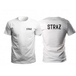 Koszulka T-shirt STRAŻ biała